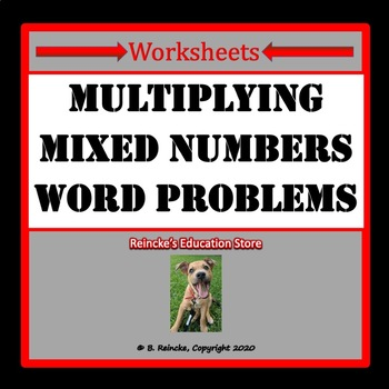 multiplying mixed numbers word problems worksheets by reincke 39 s education store. Black Bedroom Furniture Sets. Home Design Ideas