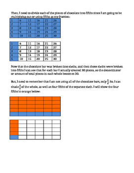 Multiplying Mixed Numbers by Fractions Using Area Models