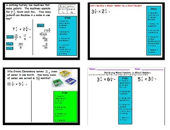 Multiplying Mixed Numbers by Mixed Numbers using Real World Problems 5.NF.B.6