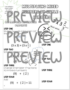 Multiplying Mixed Numbers by Whole Numbers Doodle Study Guide
