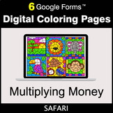 Multiplying Money - Google Forms | Digital Coloring Pages