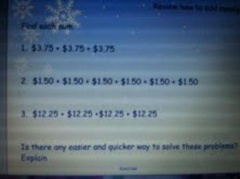 Multiplying Money Smartboard
