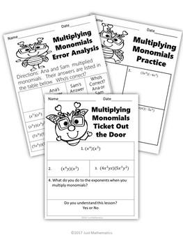 Multiplying Monomials