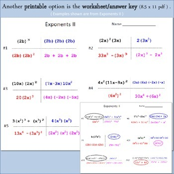 Multiplying Monomials I - Can you guess which one? - print version