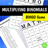 Multiplying Binomials (FOIL) BINGO Game