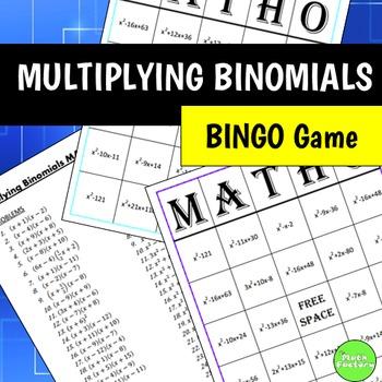 Multiplying Binomials (FOIL) BINGO Game