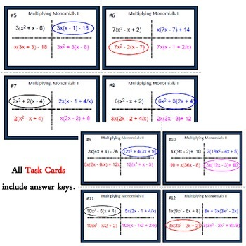 Multiplying Monomials II - Can you guess which one? - print version