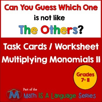 Multiplying Monomials II - Can you guess which one? - prin