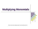 Multiplying Monomials PowerPoint
