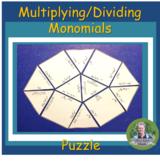 Multiplying Monomials Puzzle Activity