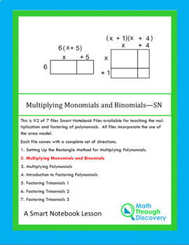 Algebra I:  Multiplying Monomials and Binomials