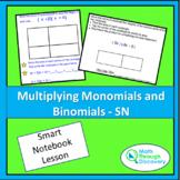 Algebra 1 - Multiplying Monomials and Binomials - SN