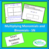Algebra 1 - Multiplying Monomials and Binomials - SN