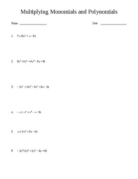 Pre Alge Worksheets   Monomials and Polynomials Worksheets as well Multiply monomials by polynomials  practice    Khan Academy moreover  likewise  additionally  likewise multiplying monomials and polynomials worksheet – pijar co moreover  together with Alge 2 Polynomials Test Review   Multiplying Monomials and likewise Multiplying a Monomial by a Binomial  A in addition Kids   Worksheets Liry And Print Multiplying Polynomials likewise  also  besides  also Polynomials Color By Number Activity St Patricks Day Th On furthermore  also Multiply Monomials Calculator Math Multiplying Multiplying Monomials. on multiplying monomials and polynomials worksheet