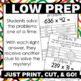 Multiplying Multi Digit Numbers 5th Grade Math Problem Solving w/ Answer Key