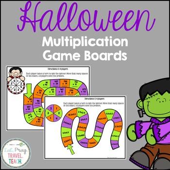 Multiplying Multi-Digit Numbers Game Boards