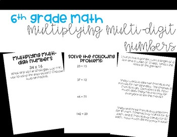 Multiplying Multi-Digit Numbers Foldable