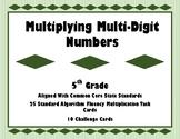 Multiplying Multi-Digit Numbers Task Cards