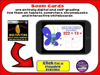 Multiplying Multi-Digit Numbers and Multiples of 10 Digital Boom Cards