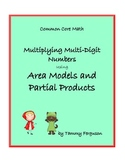 Multiplying Multi Digit Numbers using Area Models and Part