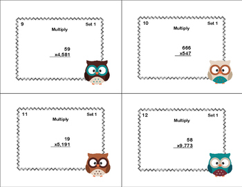 Multiplying Multi-Digit Whole Numbers -Grade 5 CCSS Woodland Owl Theme