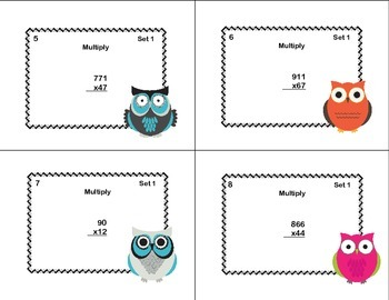 Multiplying Multi-Digit Whole Numbers -Grades 4-5 CCSS
