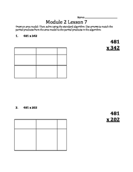 Multiplying Multi-digit Whole Numbers using Area Models