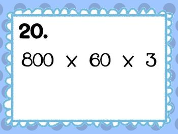 Multiplying Multiples of 10 SCOOT Game