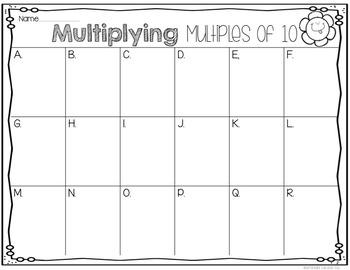 Multiplying Multiples of 10: Spring Flowers