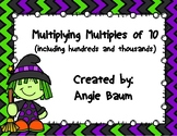 Multiplying Multiples of 10 Task Cards - Halloween Theme