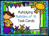 Multiplying Multiples of 10 Task Cards - Spring Themed