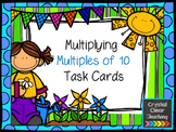 Multiplying Multiples of 10 Task Cards - Spring Themed