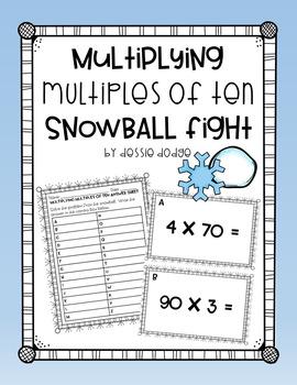 Multiplying Multiples of Ten Snowball Fight