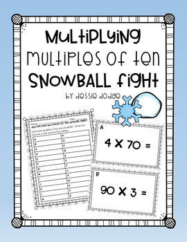Multiplying Multiples of Ten Snowball Fight