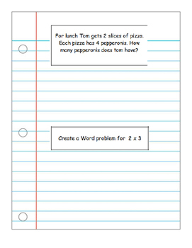 Multiplying Notebook Problems