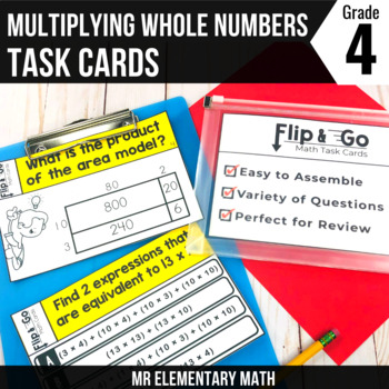 Multiplication of Whole Numbers - 4th Grade Math Flip and