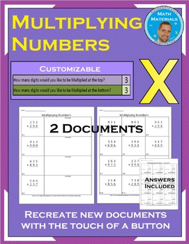 Multiplying Numbers: Customize the Number of Digits - Automatically Generated