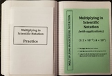 Multiplying Numbers in Scientific Notation (Foldables)