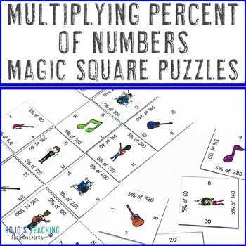 Percent of a Number Activity | Percent of a Number Puzzle | Multiplying Percents