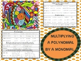 Multiplying Polynomials by Monomials - Coloring Activity
