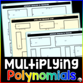 Multiplying Polynomials Activity Worksheets
