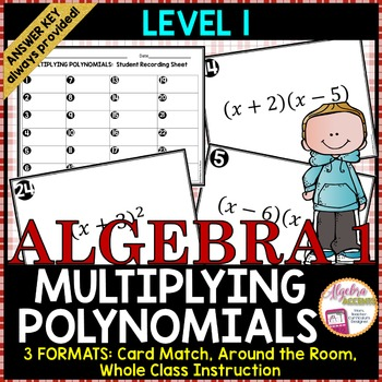 Multiplying Binomials Level 1 Card Match