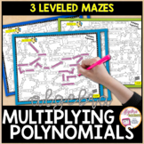 Multiplying Polynomials Mazes 3 Levels
