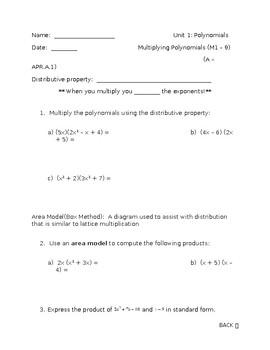 Multiplying Polynomials