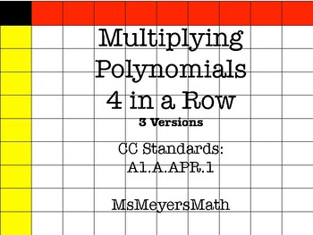 Multiplying Polynomials 4 in a Row
