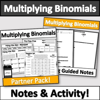 Multiplying Polynomials Activity & Notes Bundle! (FOILing!)