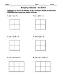 Multiplying Polynomials Box Method 1