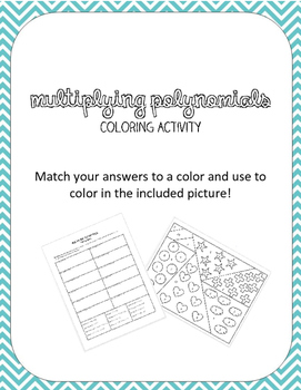 Multiplying Polynomials Coloring Activity By Amanda S Math Corner