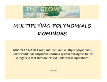 Multiplying Polynomials Dominoes