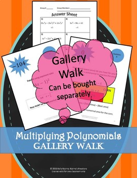 Multiplying Polynomials & Exponent Rules (Bundle)
